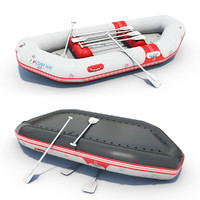3ds inflatable river raft