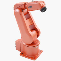 industrial robotic arm irb 3d model