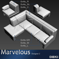 couch set sofa 3ds