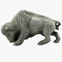 realistic bull 3d model
