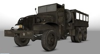3ds max gmc cckw 353 army truck
