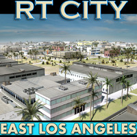 city street east los angeles 3d 3ds