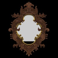 3d model mirror classic pattern