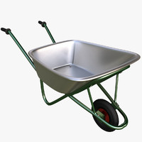 3d garden wheelbarrow model