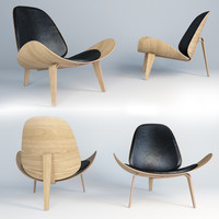3d model ch07 lounge chair hans wegner