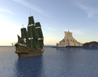 3dsmax flying dutchman ship pirates