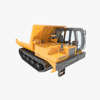 3d model dumper morooka crawler