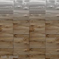 panel oak 3d model
