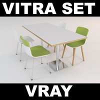max vitra set chairs table