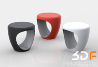 stool pebble 3d 3dm