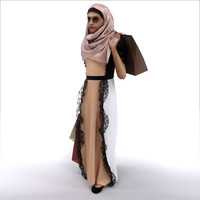 3d female arab character model