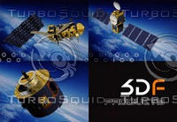 3d set satellites jason metop