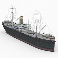 3d model old cargo ship