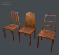 Chair Pack low poly game ready