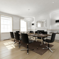 executive boardroom interior scene max