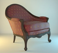 Armchair 17 Classic red