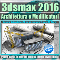 3ds max 2016 Architettura e Modificatori 1 Mese Subscription
