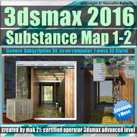 3ds max 2016 Substance Map 1- 2_1 Mese Subscription