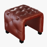 3d model bench horseshoe