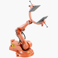 3d industrial robotic arm model