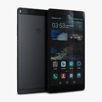 huawei p8 carbon black 3d max