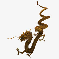 chinese dragon 3d max