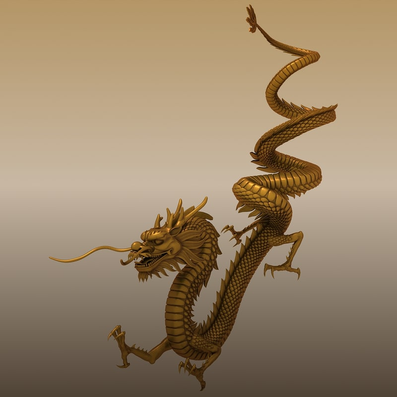chinese dragon 3d model - photo #32