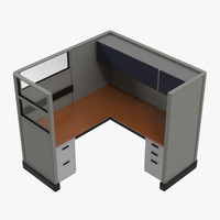 cubicle work 3d model