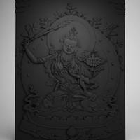 buddha manjushri 3d obj