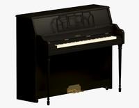 piano yamaha 3d max