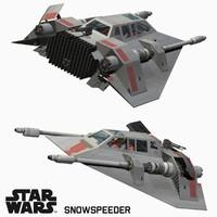 snowspeeder star wars 3d x