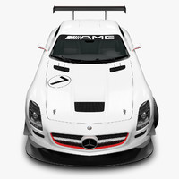 3d model of mercedes-benz sls amg gt3