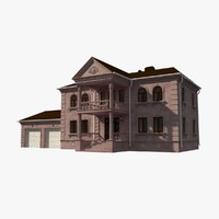 mansion natural stone 3d model