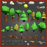Low-poly forest pack (black friday -50%)