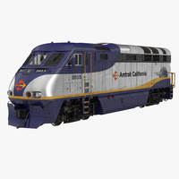 3d diesel electric locomotive f59 model