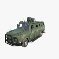 armored car 3d model