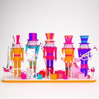 3d nutcracker christmas model