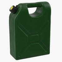 3d model petrol jerry green