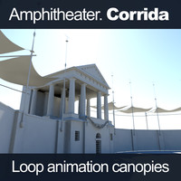 3d ancient amphitheater corrida model