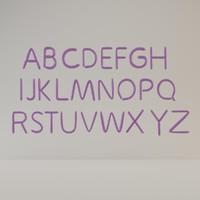 alphabet balloon obj