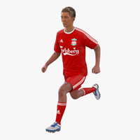 3d model soccer player liverpool rigged