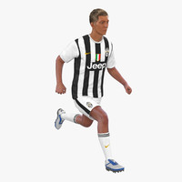 soccer player juventus rigged 3d model