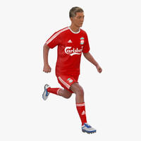 soccer player liverpool rigged 3d max