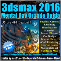 3ds max 2016 Mental Ray Grande Guida 3 Mesi Subscription