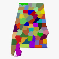 County Map - Alabama