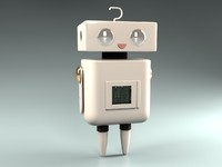 3ds max cute robot