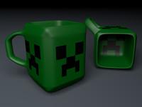 3d model gamer mug creeper