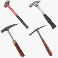 3d model generic hammers 2