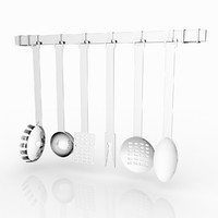 3d obj kitchen tools set