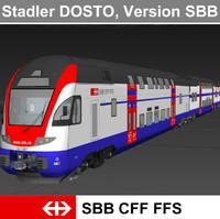 passenger train - 3d model